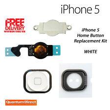 NUEVO COMPLETO Recambio botón de inicio Kit de reparación para Iphone 5 Blanco
