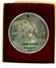 NEW John Deere 2010 Holidays Pewter Ornament by SpecCast JDM626