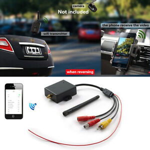 Wireless Wifi Car Truck SUV Rear View Camera Video Transmitter Phone Display 12V