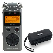 Tascam DR-05 Handheld PCM Portable Digital Recorder (Grey) with Carry Case