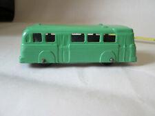 "Tootsietoy Green Coach Bus w/Rubber Wheels 3"" USA"