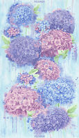 """Timeless Treasures Hydrangea Panel 100% cotton fabric by the Panel 24"""" X 44"""""""