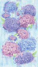 "Timeless Treasures Hydrangea Panel 100% cotton fabric by the Panel 24"" X 44"""