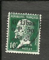 FRANCE LEBANON Yvert # 24, ENLARGED PIASTER, USED, VF