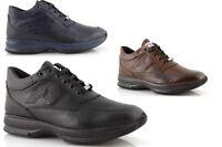 Sneakers uomo alte pelle nere blu invernali sportive stringate moda made italy