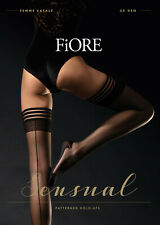 FIORE Femme Fatale Luxury 20 Denier Seamed Hold Ups - PLUS Size Available