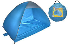 Nalu Blue 2m X 1.3m Pop up Outdoor Beach Sun Shelter Tent