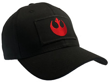Star Wars Rebel Hat Black Ball Cap 100% Cotton