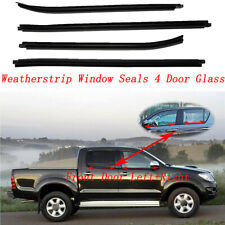 WINDOW GLASS SEALS DOOR WEATHER STRIP FOR TOYOTA HILUX Double Cab 2005-2015 FULL
