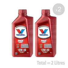 Car Engine Oil Service Kit / Pack 2 LITRES Valvoline MaxLife 10w-40 2L
