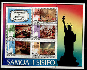 SAMOA QEII SG MS464, 1976 bicentenary of American revolution mini sheet, NH MINT