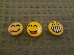 Lot of 3 Emoji shoe charms for Crocs shoes. Other uses Craft, Scrapbook