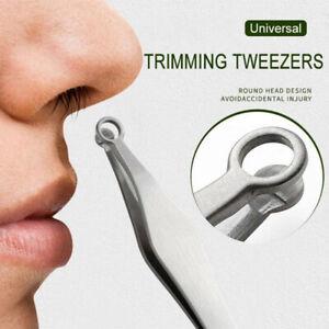 Nose Hair Trimming Tweezers Nose Trimmer Tweezer Round Tip Eyebrow Nose Removzh