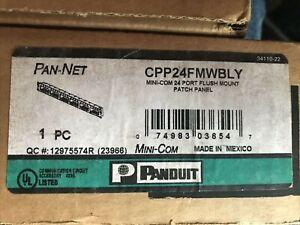 Panduit CPP24WBLY 24-Port Flat Flush-Mount Patch Panel, Black