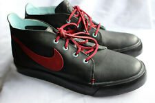 Nike iD Blazer MID Chukka Shoes US Men's Size 12 Black Red and blue New