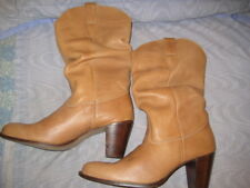 """ON YOUR FEET CHESTNUT LEATHER """"JAKE"""" SLOUCH BOOTS, SZ 10M, NEW"""