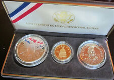 U.S. Congressional Coins; 3 Piece Set incl. Gold $5 piece and Silver Dollar