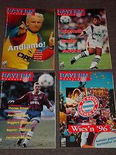 4 x FC Bayern München rivista del 1996 (N. 1, 2, 3, 4) tutti con poster