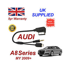 AUDI A8 Series cavo per Samsung Galaxy S2 S3 S4 S5 MICRO USB & AUX 3,5 mm Cavo