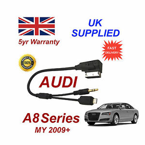 AUDI A8 Samsung Galaxy S2 S3 S4 S5 S6 S7 Micro USB & AUX 3.5mm Cable