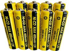 10 x AAA Rechargable Batterys 1.2V 400mAh Electronic Devices Phones Toys
