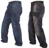Mens Denim Work Jeans Hardwearing Worker Trousers pockets Working Workwear Pants