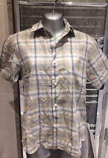 Blue Base Ladies Blouse Shirt Size 10