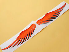 Red Angel Eagle Wing Emblems Badge Decal Motorcycles Fuel Oil Tank Fairing Set