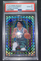 2019 Panini Mosaic Giannis Antetokounmpo Stained Glass PSA 10 Bucks MVP