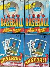 4 BOXES  2 - 1989 TOPPS Baseball Boxes & 2 - 1990 FLEER Wax Boxes - Case Pulls