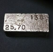 25.70 Troy Ounces Old Pour Hvy Weight 999 Fine Silver Bar Ingot Mining Coin #138