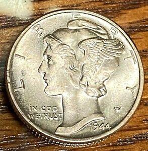 1944 Mercury Dime Choice White Uncirculated CHN