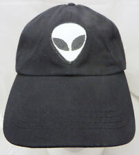 Alien baseball cap hat adjustable buckle black