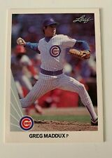 MLB GREG MADDUX Chicago Cubs Leaf 1990 Baseball Trading CARD #25