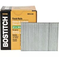 "Bostitch SB16-2.50 2 1/2"" 63mm 16G Straight Nails 2500pcs"