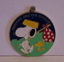 Snoopy Woodstock Pendant Friends Are For Sharing  Peanuts Aviva Charm Ornament