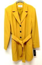 Le Suit Women's Yellow Coat Size 14
