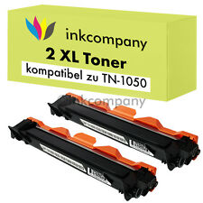 2 Toner für Brother TN1050 DCP1510 DCP1512 HL1110 MFC-1810 MFC1815 MFC1910W XXL