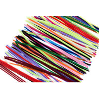 300 Pcs Pipe Chenille Cleaners Multi Color Bristle Hookah Gun Craft Absorbtion