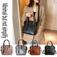 Fashion Messenger Bag Women Leather Purse Tassel Pendant Shoulder Handbag Tote