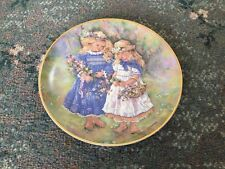 The Leonardo Collection Collectors Plate FLOWER GATHERERS By Christine Haworth