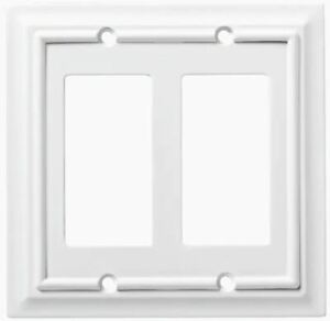 QTY 5 Brainerd Architectural 2 Gang Pure White Double Wall Plate Indoor 179749
