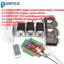 3 Axis Nema23 Stepper Motor 112mm 425oz.in&FMD2740 Driver USB CNC Controller Kit