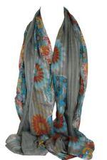 Bufandas y pañuelos de mujer de viscosa sin marca color principal gris