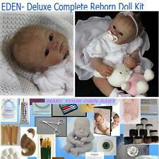Reborn KIT EDEN Complete Beginner Starter DELUXE  Lot DVD, PAINTS, BODY, MOHAIR