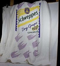 Vintage Schweppes Dry Grape Ginger Ale Beach Towel - NOS