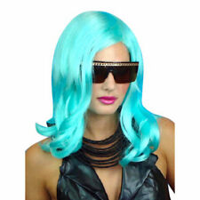 Lady Gaga Aqua Turquoise Wig Fancy Dress Costume Wig