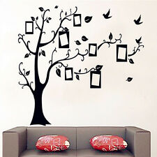 Removable Black Family Tree Wall Decal Sticker Large Vinyl Photo Picture Frame
