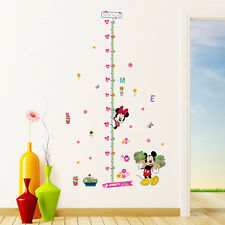 Minnie Mickey Mouse Height Chart Wall Sticker Vinyl Kids Home  Nursery Decor