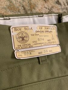 NEW NWT Vintage 50-60s Boy Scout Shorts 4'' Inseam sz 36 Waist IMPOSSIBLE FIND